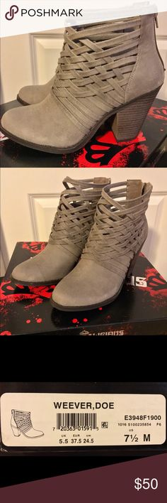 """Weever Ankle boots By FERGIE Selling this BRAND NEW Fergalicious by FERGIE Weever Ankle Boots. I got this just today (March 30,2017) and it wasn't my size. The original price is $70, selling it for only $50. These boots have a unique weave ankle design and the heel height is only 3"""". Perfect for any season! Only selling 1 pair. Fergalicious Shoes Ankle Boots & Booties"""