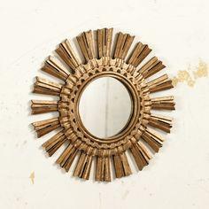"""Suzanne Kasler Sunburst Mirror #1  Dimensions: Overall: 15 1/2"""" Diameter Mirror: 6"""" Diameter"""