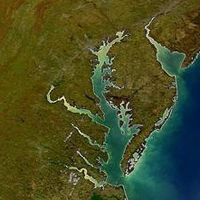 This looks like abstract art to me. A Historical Timeline of the Chesapeake Bay #ChesapeakeBay