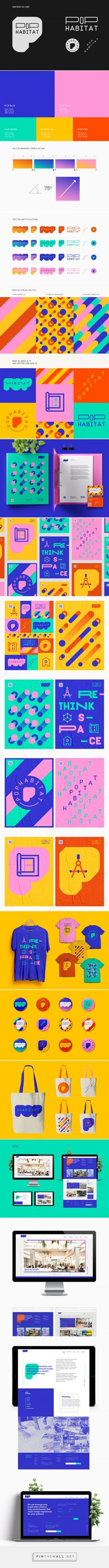 POP HABITAT // BRANDING on Behance... - a grouped images picture - Pin Them All