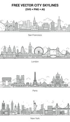 City skylines: .png, .svg, .ai. Enjoy!