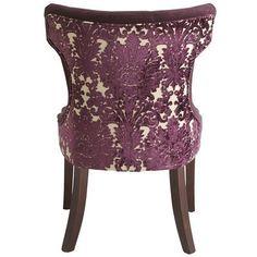 purple burnout velvet damask vintage chair - Google Search