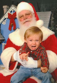 33 Awkward, Creepy Santas: Scary Laps From Hell -!