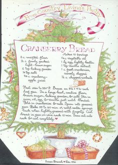 Cranberry Bread, Susan Branch for Country Living Magazine