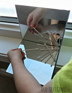 Creating snowflakes in a mirror box to explore symmetry from And Next Comes L