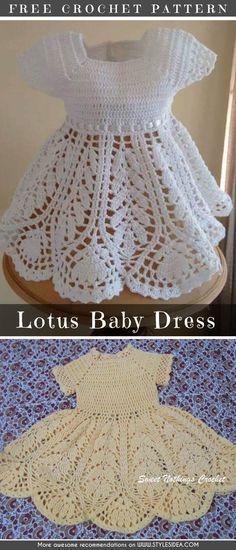 Lotus Baby Dress Free Crochet Pattern | Crafts Ideas