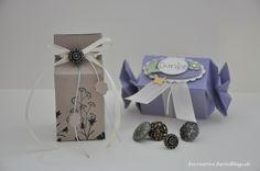 Stampin up - Verpackung - Stanze Knallbonbon - Stempelset Schattenbilder - Danke-Stempel - Schleife