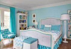 Nuansa sejuk pada kamar juga ditimbulkan oleh warna ini.