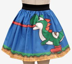 Yoshi Inspired Full Skirt by GoChaseRabbits on Etsy, $45.99