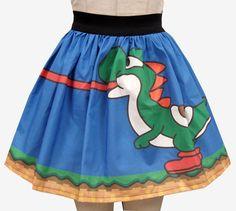 Yoshi Inspired Full Skirt by GoFollowRabbits on Etsy, $45.99