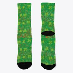 Patrick's Day Socks T-Shirt from Lucky St.Patrick's Day, a custom product made just for you by Teespring. Green Socks, Socks For Sale, Word Out, Order Prints, Shirt Designs, Just For You, Day, Products