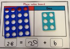 Place value - Tens and ones with Numicon.