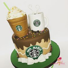 "39 Likes, 7 Comments - Diana Molina (@mmmcakesbydiana) on Instagram: ""Here it is complete #coffeecake #starbuckscake #cakewalkcrafted #gondantcake #handmadetoppers…"""