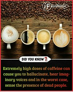 😳That's why my coffee is caffeine free. Wow Facts, Real Facts, Wtf Fun Facts, Interesting Science Facts, Interesting Facts About World, Some Amazing Facts, Unbelievable Facts, Biology Facts, Psychology Fun Facts