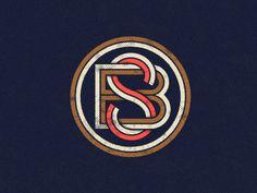 3 color monogram