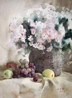 Невероятные акварели китайского художника Гуань Вейсина.