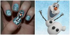 "NOTD: Snowman Nails Inspired by ""Frozen's"" Olaf"