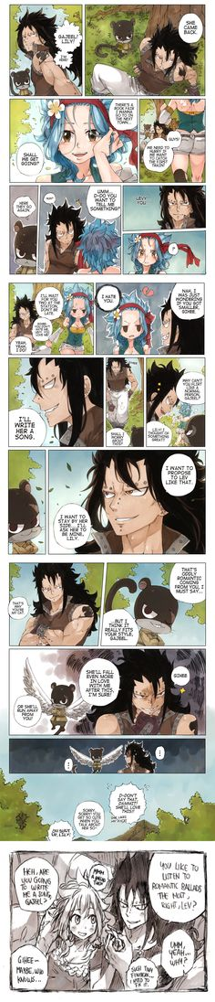 Gajeel x Levy 2 Gale Fairy Tail, Fairy Tail Guild, Fairy Tail Ships, Fairy Tail Anime, Fairy Tales, Fairy Tail Family, Fairy Tail Couples, Gajeel Et Levy, Fairy Tail Comics