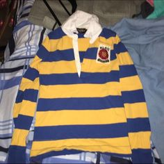 Vintage Rugby Polo Small vintage rugby polo good condition barely worn Ralph Lauren Tops Tees - Long Sleeve