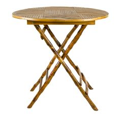 Tortoise Bamboo Folding Table - TABLES - FURNITURE