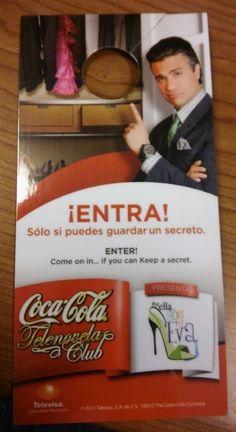 Coca Cola Do Not Disturb Door Sign - Telenovela Por Ella Soy Eva Coke Televisa #CocaCola