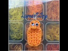 Rainbow Loom JIMMY GOURD (Veggie Tales). Designed and loomed by Lumefinity. Click photo for YouTube tutorial. 06/20/14.