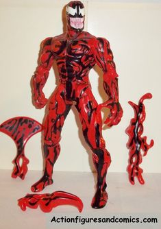 Spider-man the Animated series CARNAGE 10 inch 100% complete toy biz action figures