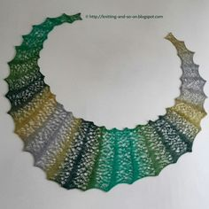 Knitting and so on: Random Bubbles Lace Scarf