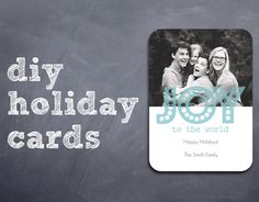 How to make designer looking holiday cards for a fraction of the price.