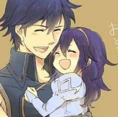 Fire Emblem :Awakening - Chrom and his young daughter. T-T