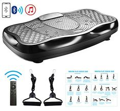 TODO Vibration Platform Power Plate Whole Body Vibrating Massager Machine Remote Control/Bluetooth Music/USB Connection/Resistance Bands(Black) Best Vibrators, Remote, Bluetooth, Usb, Platform, Plates, Amazon, Licence Plates, Dishes