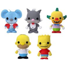 Simpsons plush toys