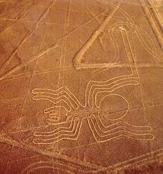 The Spider on the Nazca Lines, Péru. The Nazca Lines are a series of ancient geoglyphs located in the Nazca Desert in southern Peru. They were designated as a UNESCO World Heritage Site in WEEK 26 Nazca Lines Peru, Nazca Peru, Ancient Aliens, Ancient Art, Ancient History, Land Art, Ufo, Illustration Photo, Art History