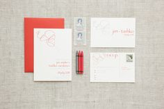 Jen & Tashko - Paper & Poste Custom Invitation Suite