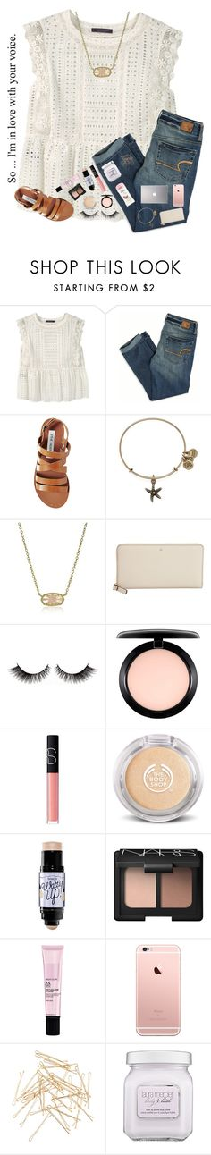 ||So... Im in love with your voice|| by mmprep ❤ liked on Polyvore featuring Violeta by Mango, American Eagle Outfitters, Steve Madden, Alex and Ani, Kendra Scott, Kate Spade, MAC Cosmetics, NARS Cosmetics, Benefit and Monki