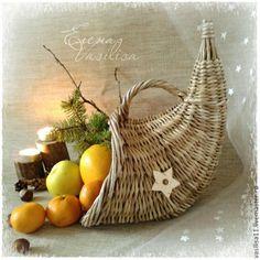 'Рог изобилия' корзиночка для фруктов и подарков - рог изобилия,плетеный