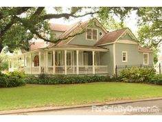 This beautiful, #Victorian two-story home located in #Lafayette, #Louisiana was originally built in 1893 in and was reconstructed in 1990 with a complete renovation in keeping with the original architectural design. Features 4 bedrooms, a wrap-around porch, 10-foot ceilings, #antique oak flooring, antique stained-glass windows and a wood-burning fireplace. The corner lot has 3 large live oaks, camellias, fruit trees and a fenced-in vegetable/herb garden. #realestate