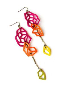 Boo and Boo. #earrings #jewelry #leather #modern #handmade