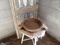 Decoratie houten schaal, schalen vintage woonkamer hout