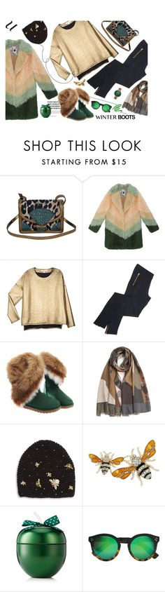 """Winter Boots"" by lence-59 ❤ liked on Polyvore featuring Dries Van Noten, VALENTINE GAUTHIER, Caffé, Jennifer Behr, Napier, Illesteva and Skagen"