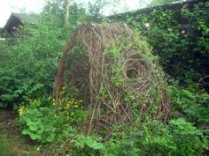 Cool twig garden structure. Sticky Wicket