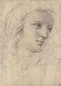 Raphael: Head of a Muse (drawing) - Christie's 2009-12-08 - digitaljournal-com