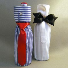 """""""Shirt"""" Gift Wrap a Bottle for Your Man – Father's Day, College Grad, Birthday, Any day! – Birthday Presents Wine Bottle Gift, Wine Bottle Covers, Bottle Bag, Wine Bottle Crafts, Wine Gifts, Wine Bottle Wrapping, Top Gifts, Wine Bottles, Creative Gift Wrapping"""