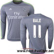 Maillot Foot Real Madrid Gris Manche Longue Bale 11 Exterieur 15 2016 2017 Pas Chere