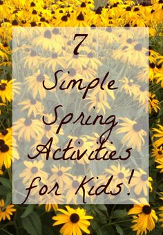 7 Simple Spring Activities for Kids from How Wee Learn