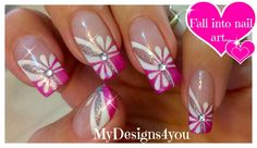 Floral Pink Nail Art Spring-Summer Nails by Liudmila Z Dot Nail Art, Floral Nail Art, Pink Nail Art, Nail Art Designs, Nail Designs Spring, Spring Nails, Summer Nails, Youtube Nail Art, French Tip Nail Art
