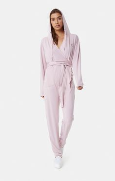 Supersoft Bamboo Womens Jumpsuit Faded Pink 34d602c9d