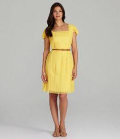 Alex Marie Caley Belted Mesh Dress | Dillards.com