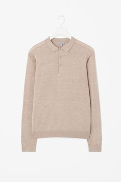 Silk cotton polo-neck