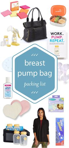 Your First-Day-Back-At-Work Breast Pump Bag Packing List: If you're going to be pumping at work be sure to check out this AMAZING checklist on what to bring!